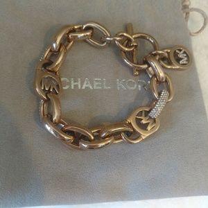 Michael Kors Rose Gold Pave Chain Link Bracelet